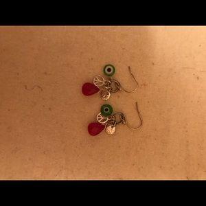 EUC American Eagle evil eye earrings
